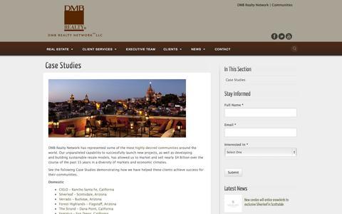 Screenshot of Case Studies Page dmbrealtynetwork.com - Case Studies - DMB Realty Network - captured Oct. 29, 2014