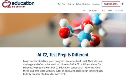 Screenshot of c2educate.com - SAT, ACT, AP Test Prep | C2 Education - captured March 18, 2017