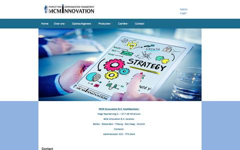 Screenshot of Contact Page mcminnovation.nl - Contact - MCM Innovation - captured Nov. 18, 2016