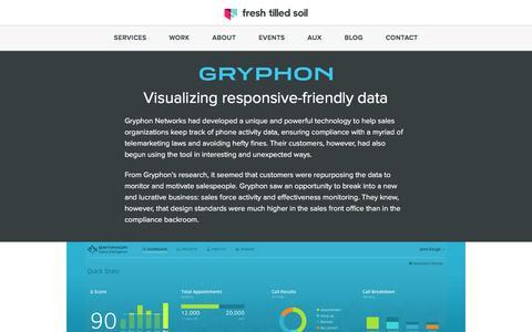 Screenshot of Case Studies Page freshtilledsoil.com - UI Design Case Study - Gryphon Networks | Fresh Tilled Soil - captured Oct. 22, 2016