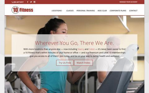 Screenshot of Home Page 10fitness.com - Home - 10 Fitness - captured Nov. 6, 2017