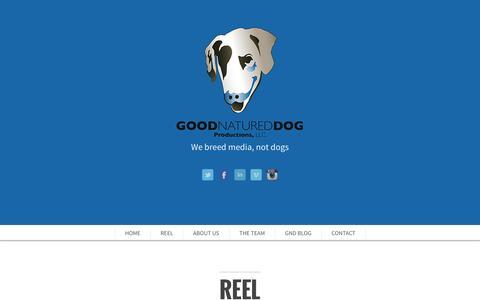 Screenshot of Team Page goodnatureddog.com - Good Natured Dog Productons, LLC. - captured Oct. 28, 2014