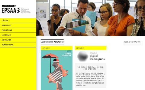 Screenshot of Home Page epsaa.fr - accueil   epsaa - captured Oct. 17, 2015