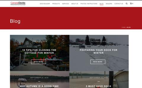 Screenshot of Press Page canadadocks.ca - Blog - CanadaDocks - captured Nov. 2, 2018