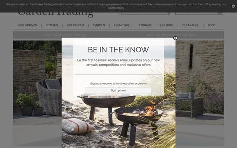 Screenshot of Home Page gardentrading.co.uk - Lighting   Homeware   Furniture   Garden   Garden Trading - captured July 16, 2018