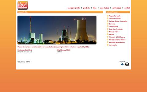 Screenshot of Case Studies Page ibslgroup.com - Case Studies - IBSL Group - captured Oct. 3, 2014