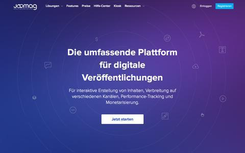 Die Digital Publishing Plattform als Rundumlösung für Jedermann | Joomag