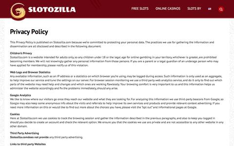 Privacy Policy | Slotozilla