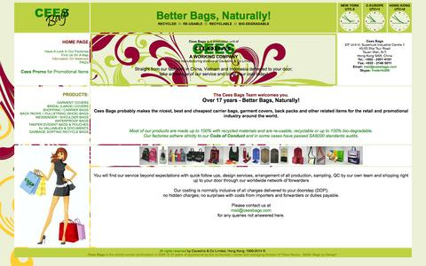 Screenshot of Home Page ceesbags.com - CEES BAGS - Home Page - captured Jan. 26, 2015