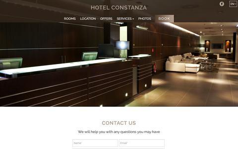 Screenshot of Contact Page hotelconstanza.com - Contact | Hotel Constanza | Barcelona | Official website - captured Oct. 29, 2018