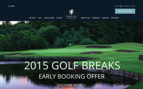 Screenshot of Press Page formbyhallgolfresort.co.uk - Golf Breaks | Luxury Spa Breaks & Weddings | Formby Hall - captured Oct. 6, 2014