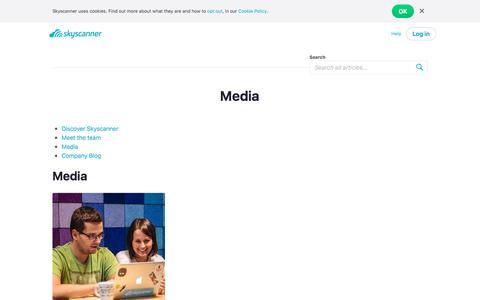 Screenshot of Press Page skyscanner.net - Media   Skyscanner's Travel Blog - captured June 11, 2018