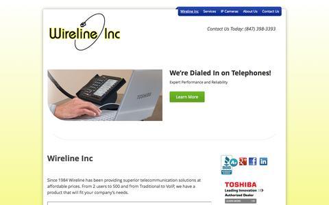 Screenshot of Home Page wirelineinc.com - Wireline Inc - wirelineinc - captured Sept. 30, 2014