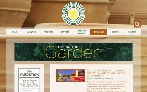 Screenshot of Blog eyeofthedaygdc.com - Blog - Eye of the Day Garden Design Center - captured Oct. 3, 2014