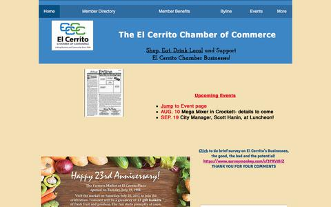 Screenshot of Home Page elcerritochamber.org - El Cerrito Chamber of Commerce - captured July 21, 2017
