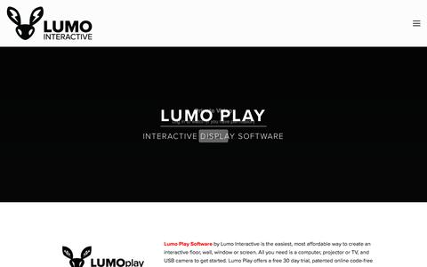 Screenshot of Products Page lumointeractive.com - Products — Lumo Interactive - captured Sept. 26, 2018