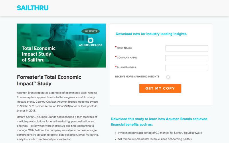 Total Economic Impact Study of Sailthru