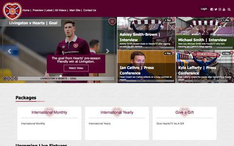 Screenshot of Login Page heartsfc.co.uk - HeartsFC   Hearts TV - captured July 1, 2017