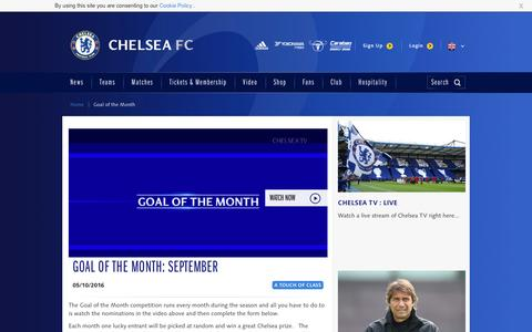 Screenshot of chelseafc.com - | Videos | Official Site | Chelsea Football Club - captured Oct. 6, 2016