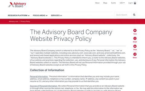 Privacy Policy | Advisory Board