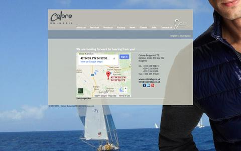 Screenshot of Contact Page colorebg.co.uk - Mens Casual fashion - captured Oct. 8, 2014
