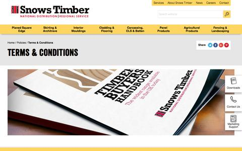 Screenshot of Terms Page snowstimber.com - Terms & Conditions | Snows Timber - captured July 7, 2017