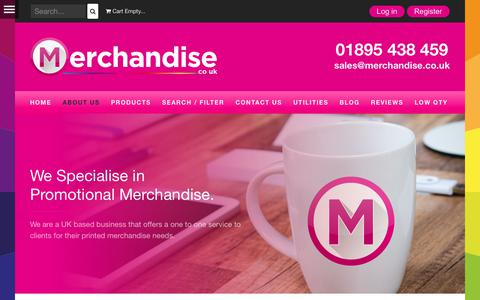Screenshot of About Page merchandise.co.uk - About Us - Merchandise Ltd - captured Nov. 21, 2017