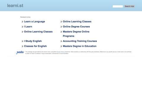 learni.st - online learning Resources and Information.