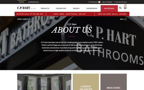 Screenshot of About Page cphart.co.uk - About Us | CP Hart - captured Dec. 29, 2016
