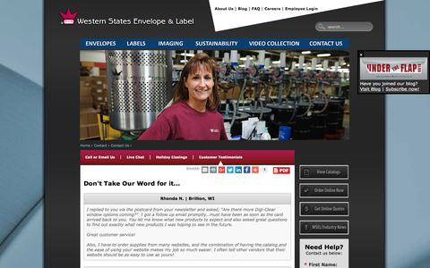 Screenshot of Testimonials Page wsel.com - Customer Testimonials   WSEL - captured Dec. 21, 2016
