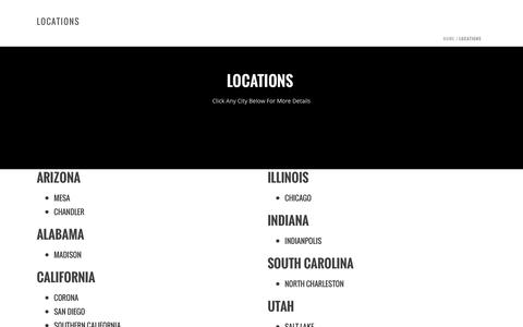 Screenshot of Locations Page ecoshieldpest.com - Locations – EcoShield Pest Control - captured Oct. 21, 2016