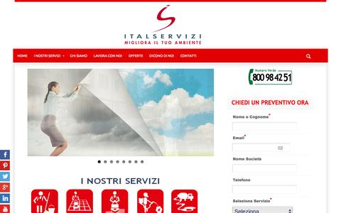 Screenshot of Home Page italservizi.it - Italservizi - Impresa di pulizie e facility management - captured Jan. 23, 2016