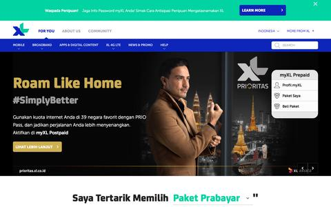 Screenshot of Home Page xl.co.id - xl.co.id - captured June 20, 2017
