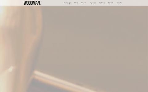 Screenshot of Home Page thewoodman.nl - The Woodman - Vanaf nu verkrijgbaar! - captured Oct. 9, 2014