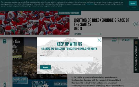 Screenshot of Press Page gobreck.com - Media Inquiries About Breckenridge - Breckenridge, Colorado - captured Nov. 17, 2018