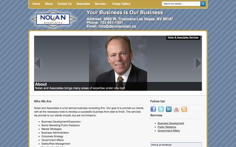 Screenshot of Home Page dennisnolan.co - Dennis Nolan and Associates - captured Oct. 7, 2014