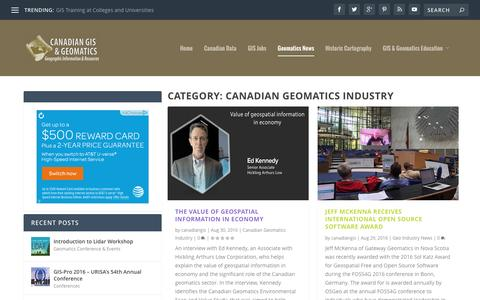 Canadian Geomatics Industry | Canadian GIS & Geomatics