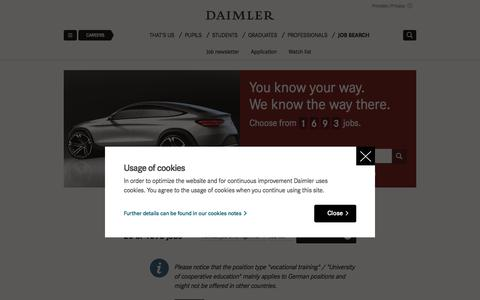 Job search | Daimler > Careers > Job search