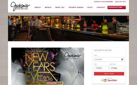 Screenshot of Blog Press Page jacksonsbistro.com - Jackson's Bistro Bar & Sushi Restaurant, Tampa Fl - captured Nov. 26, 2016