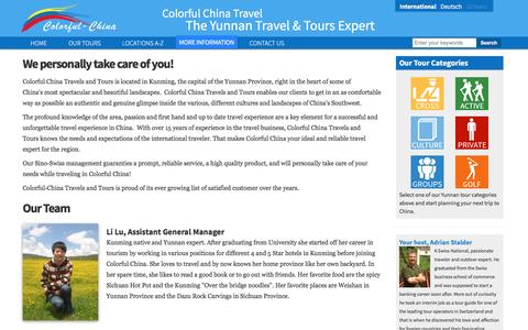 Screenshot of About Page colorfulchinatravel.com - About Us | The Yunnan Travel & Tours Expert - captured Nov. 9, 2016