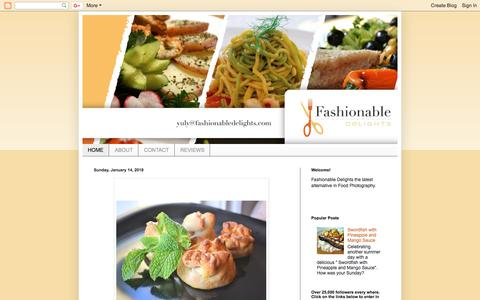 Screenshot of Home Page fashionabledelightsbyyuly.blogspot.com - Food: Fashionable Delights - captured Aug. 10, 2018