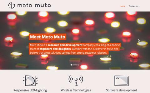 Screenshot of Home Page motomuto.com - Moto Muto ApS - captured Sept. 30, 2014