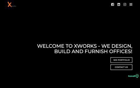 Screenshot of Home Page xworks.ae - Best Office Interior Company in Dubai and Abu Dhabi | Xworks - captured Oct. 19, 2018