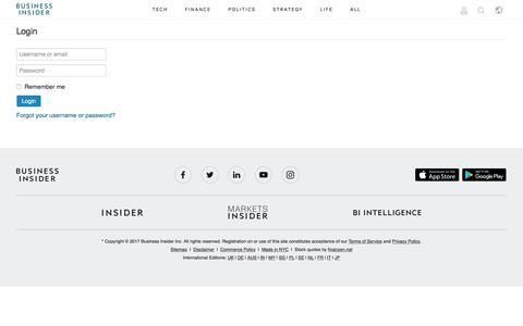 Login - Business Insider