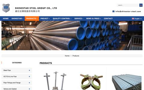 Screenshot of Products Page shinestar-steel.com - China Products Factory, Products Supplier - captured Sept. 9, 2019
