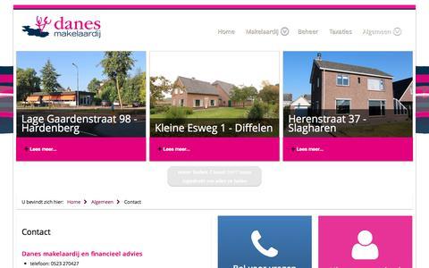 Screenshot of Contact Page danesmakelaardij.nl - Contact - captured June 3, 2017