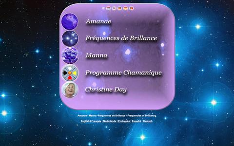 Screenshot of Home Page amanae.info - Index Amanae Frequences de Brillance Frequencies of Brilliance - captured June 17, 2016