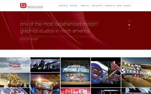 Screenshot of Home Page bigstudios.com - bigstudios Motion Graphics-VFX-Brand Identity-Motion GraphicsBig Studios | Big Studios - captured Oct. 5, 2014