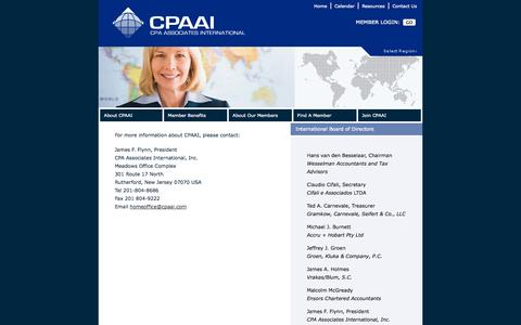 Screenshot of Contact Page cpaai.com - CPA Associates International Calendar - captured Oct. 1, 2014