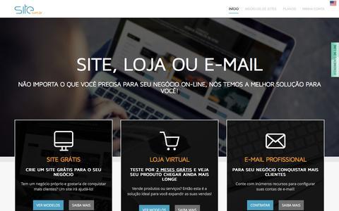 Screenshot of Home Page site.com.br - Site.com.br - Criar site grátis, Loja, E-mails e WordPress - captured Jan. 22, 2016